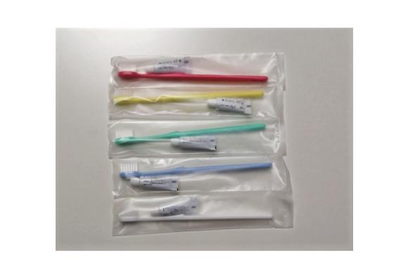 使い捨て歯ブラシセット(5色アソート)