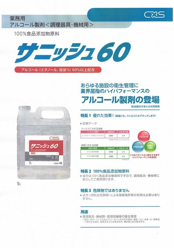 業務用アルコール製剤 サニッシュ60