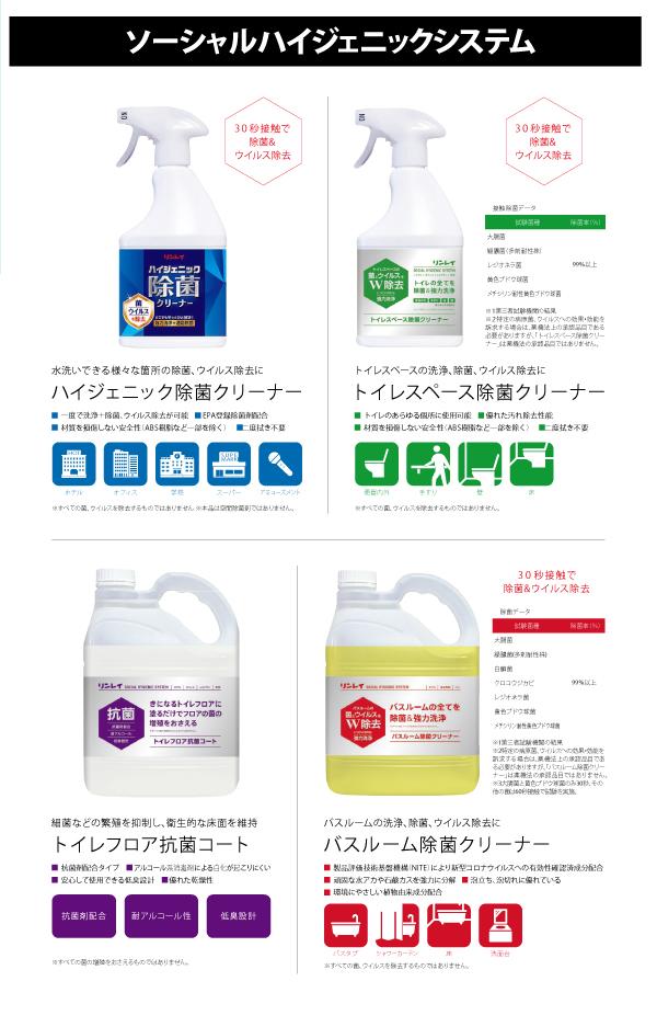 ワンステップ洗浄&除菌 ソーシャルハイジェニックシステム